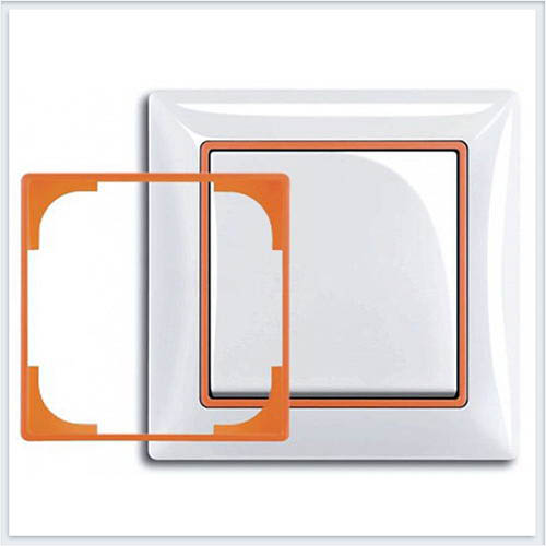 Оранжевый Вставка декоративная в рамку ABB Basic 55 1726-0-0225
