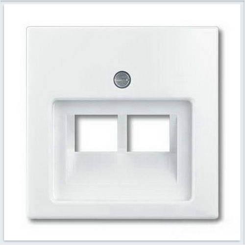 Накладка 2-ой ТЛФ/комп розетки наклонной белая ABB Basic 55 1753-0-0095