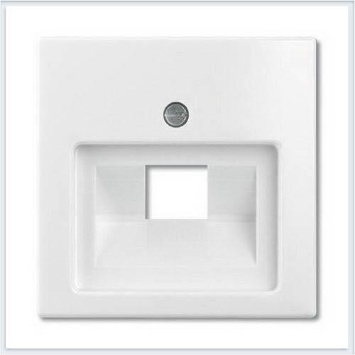 Накладка 1-ой ТЛФ/комп розетки наклонной белая ABB Basic 55 1753-0-0096