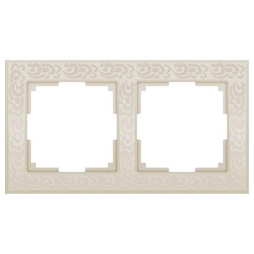 Werkel WL05-Frame-02-ivory Рамка на 2 поста слоновая кость