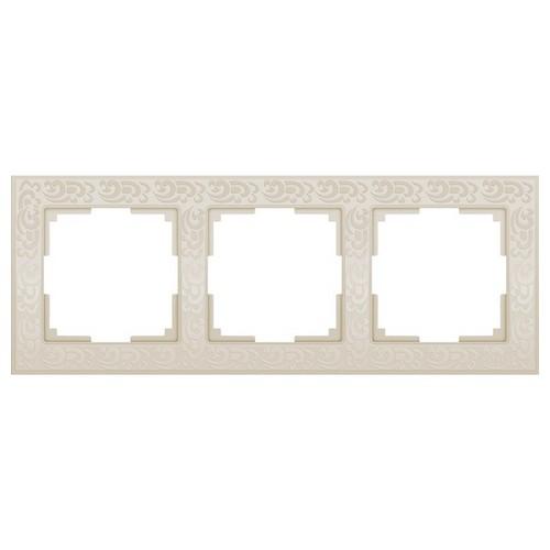 Werkel WL05-Frame-03-ivory /Рамка на 3 поста слоновая кость