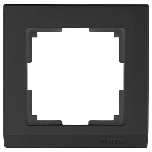 Werkel WL04-Frame-01-black /Рамка на 1 пост черный