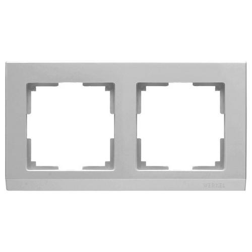 Werkel WL04-Frame-02 /Рамка на 2 поста серебряный