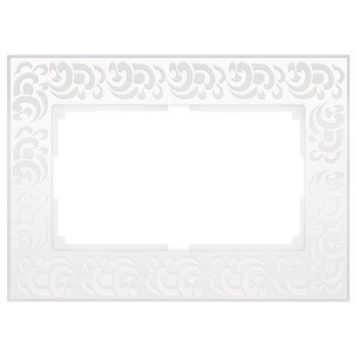 Werkel WL05-Frame-01-DBL-white Рамка для двойной розетки белый