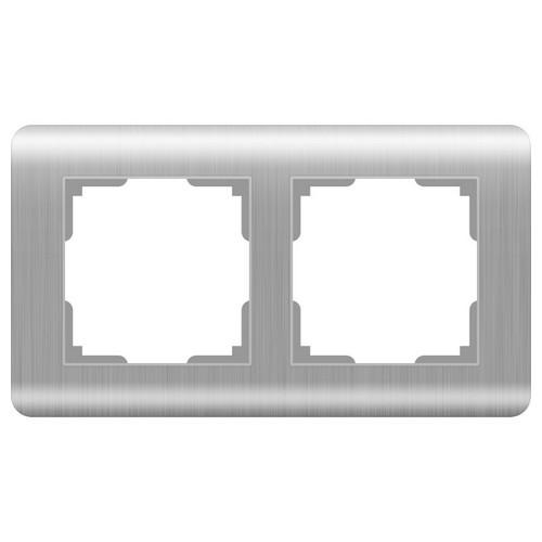 Werkel WL12-Frame-02 Рамка на 2 поста серебряный