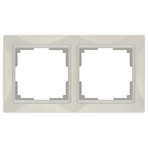 Werkel WL03-Frame-02 Рамка на 2 поста слоновая кость, basic