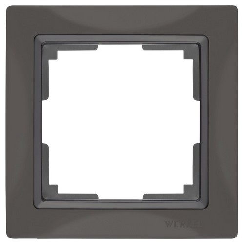 Werkel WL03-Frame-01 Рамка на 1 пост серо-коричневый, basic