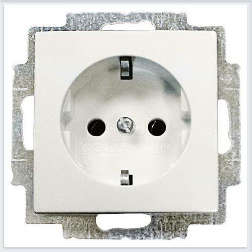 Розетки и выключатели ABB - Розетки и выключатели Basic 55 - ABB Basic 55 Шале белый - 2011-0-6144