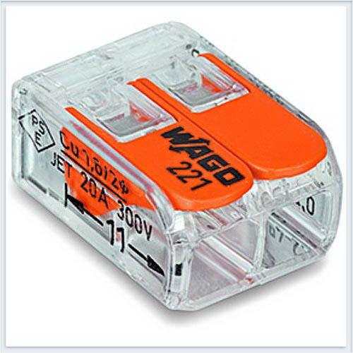 WAGO Клемма с рычагами компактная для 2-х медных одинарных - 221-412