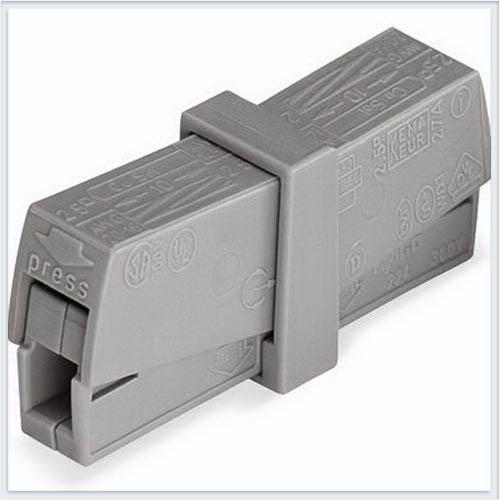 WAGO Клемма проходная для 2-х медных одно-/многопровол. проводников сеч. 0,5…2,5 мм кв - 224-201