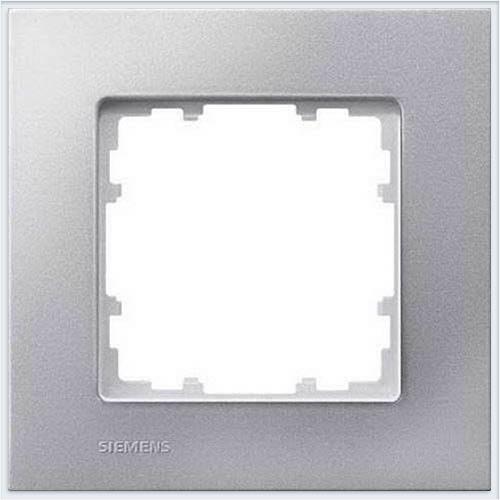 Siemens Delta miro color Рамка 1 пост алюминиевый металлик - 5TG11111