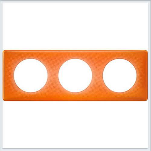 Рамка 3-ая Муар оранжевый Legrand Celiane 66653