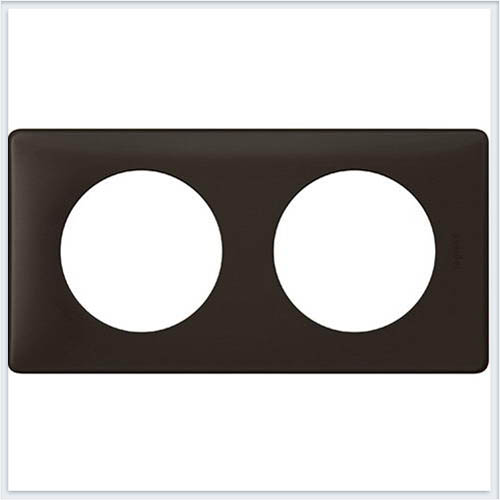 Рамка 2-ая Перкаль черная Legrand Celiane 66742