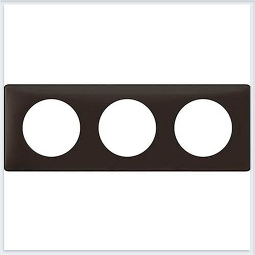 Рамка 3-ая Перкаль черная Legrand Celiane 66743