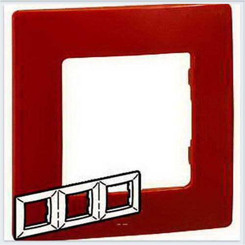 Рамка 3-ая красная Legrand Etika 672533