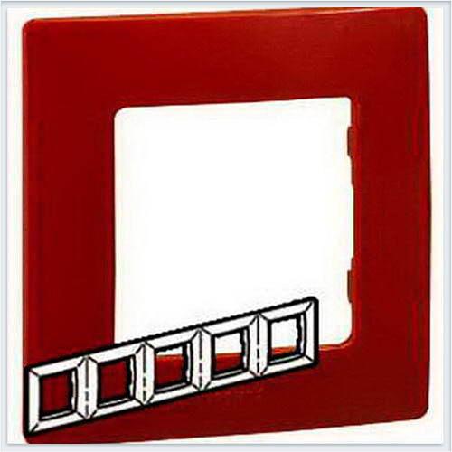 Рамка 5-ая красная Legrand Etika 672535