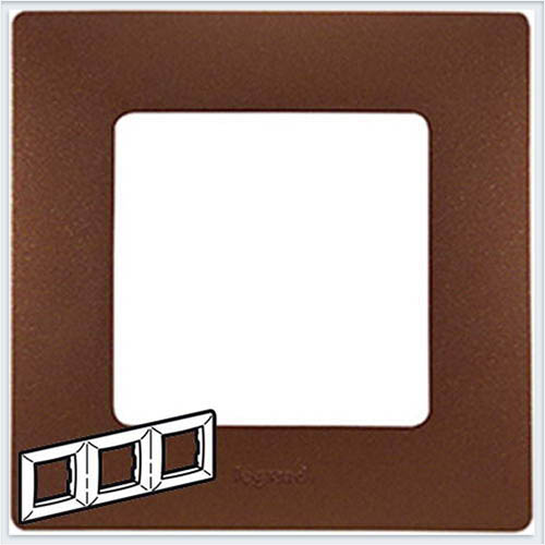 Рамка 3-ая какао Legrand Etika 672573