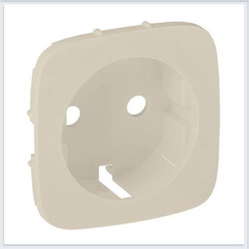 Накладка для силовой розетки 2К+З с зажимами 6кв мм Слоновая кость Valena Allure 755256