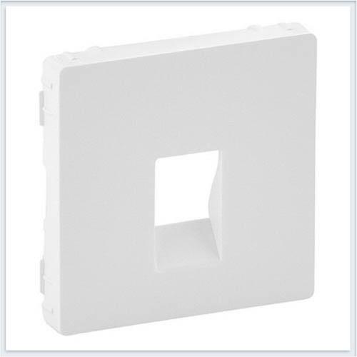Накладка для аудиорозетки с пружинными зажимами одиночной Белая Valena Life 755360