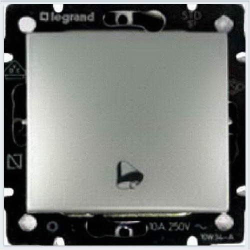 Кнопка с пиктограммой звонка Алюминий Legrand Valena 770216