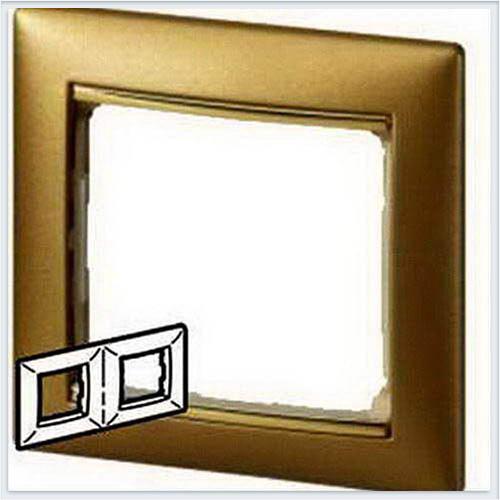 Рамка 2-я матовое золото Legrand Valena 770302