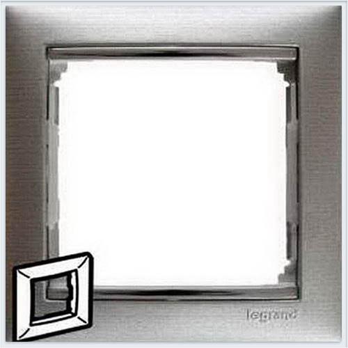 Рамка 1-я матовый алюминий Legrand Valena 770331