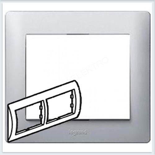 Рамка 2-я горизонтальная Legrand Galea Life Алюминий 771302