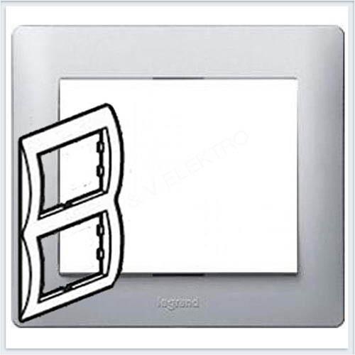 Рамка 2-я вертикальная Legrand Galea Life Алюминий 771306