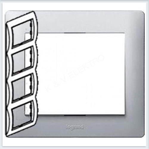 Рамка 4-я вертикальная Legrand Galea Life Алюминий 771308
