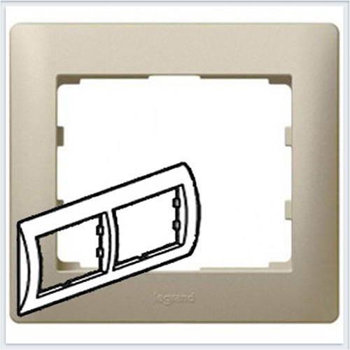 Рамка 2-я горизонтальная Legrand Galea Life Титан 771402