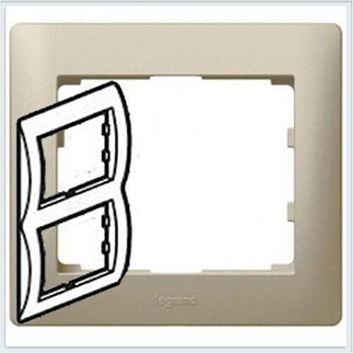 Рамка 2-я вертикальная Legrand Galea Life Титан 771406