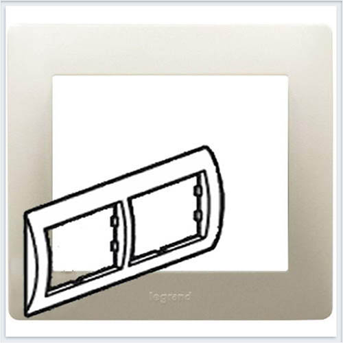 Рамка 2-я горизонтальная Legrand Galea Life Жемчуг 771502