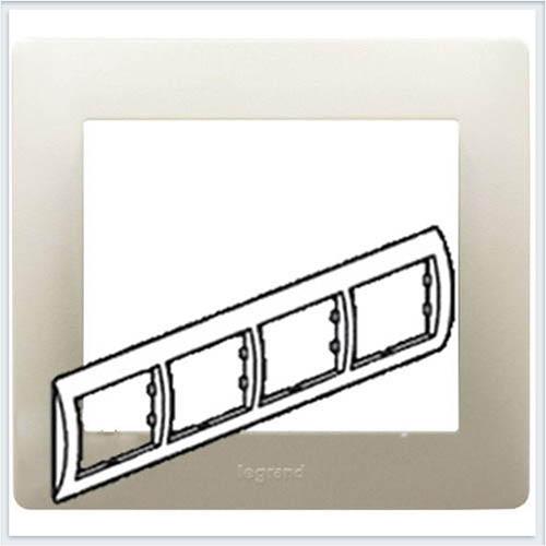Рамка 4-я горизонтальная Legrand Galea Life Жемчуг 771504
