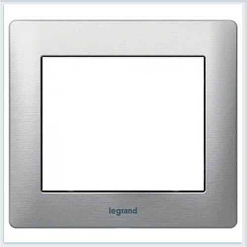 Тертый Алюминий/Brushed Aluminium Рамка 1-я Legrand Galea Life  771951