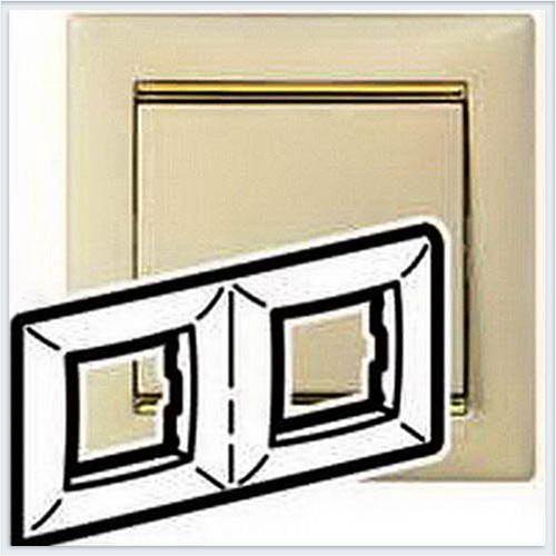Рамка 2-ая Кремовый-золото Legrand Valena 774152