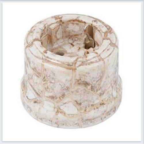Bironi  Розетка с заземлением фарфор, декор мрамор B1-101-09