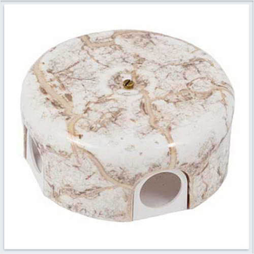 Bironi распределительная коробка, фарфор цвет мрамор 110мм. B1-522-09