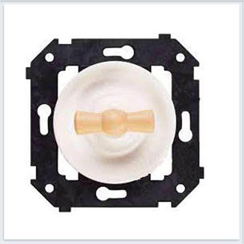 Bironi выключатель 1-кл. проходной, цвет белый, Коллекция шедель B3-201-21