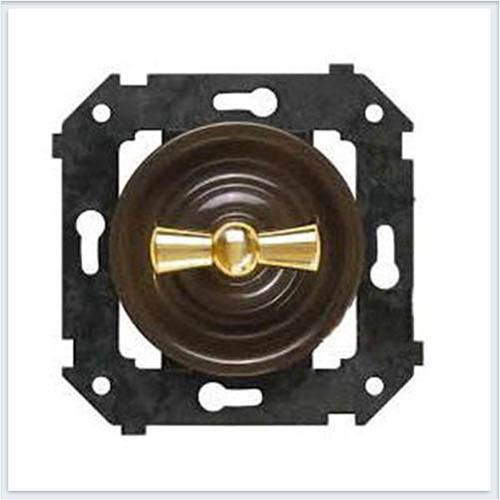 Bironi выключатель 1-кл. проходной, цвет коричневый Коллекция шедель B3-201-22