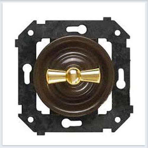 Bironi перекрестный выключатель, цвет коричневый Коллекция шедель B3-203-22