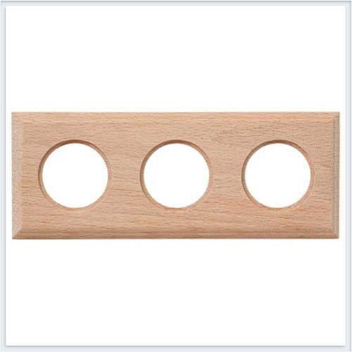 Bironi рамка трехместная квадрат, натурель Коллекция шедель BF4-630-10