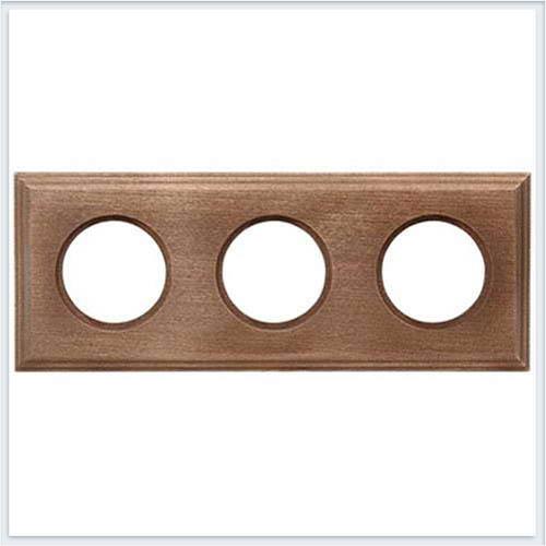 Bironi рамка трехместная квадрат, винтаж Коллекция шедель BF4-630-18