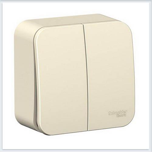 Blanca Молочный Выключатель 2-клавишный 6А, 250B