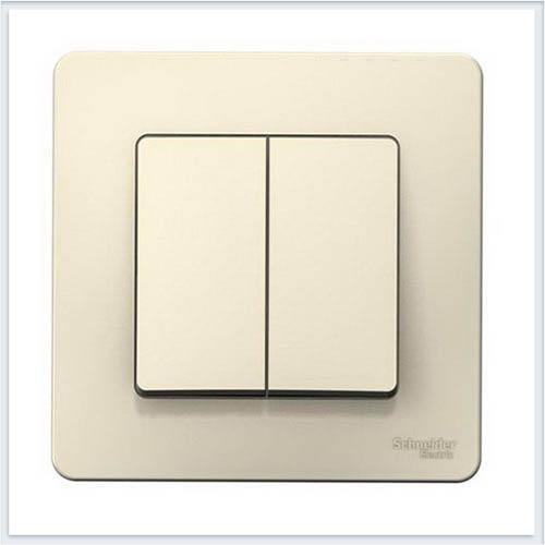 Blanca Молочный Выключатель 2-клавишный, 10А, 250B