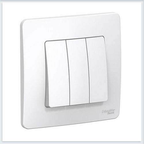 Blanca Белый Выключатель 3-клавишный, 10А, 250B