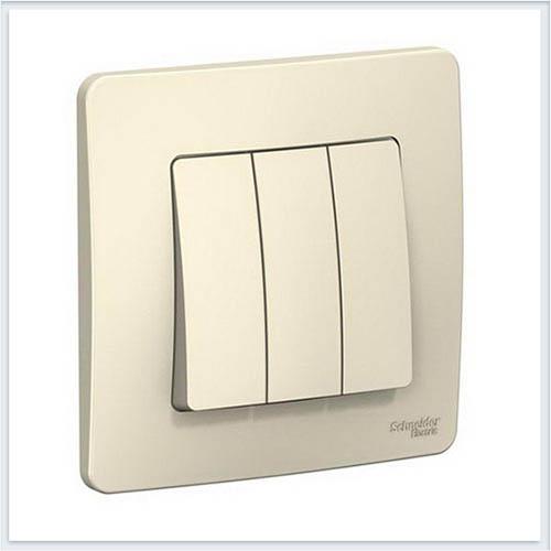 Blanca Молочный Выключатель 3-клавишный, 10А, 250B
