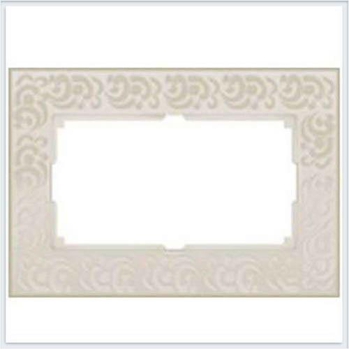 Werkel WL05-Frame-01-DBL-ivory Рамка для двойной розетки слоновая кость