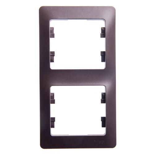 Рамка 2-я, вертикальная Glossa Шоколад GSL000806