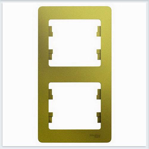 Рамка 2-ая, вертикальная Glossa Фисташковый  GSL001006