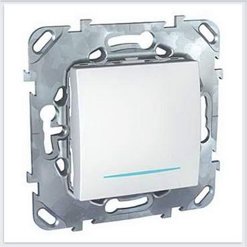 Выключатель 1-клавишный с подсветкой цвет Белый Schneider-Electric Unica - MGU5.201.18NZD